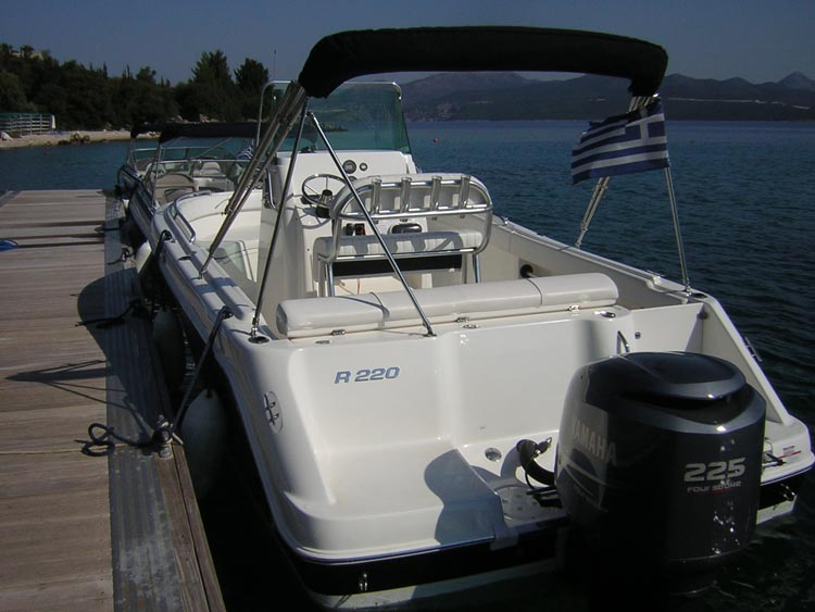 One of the speed boats